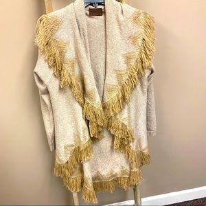Kerisma knits Aztec fringe oversized cardigan